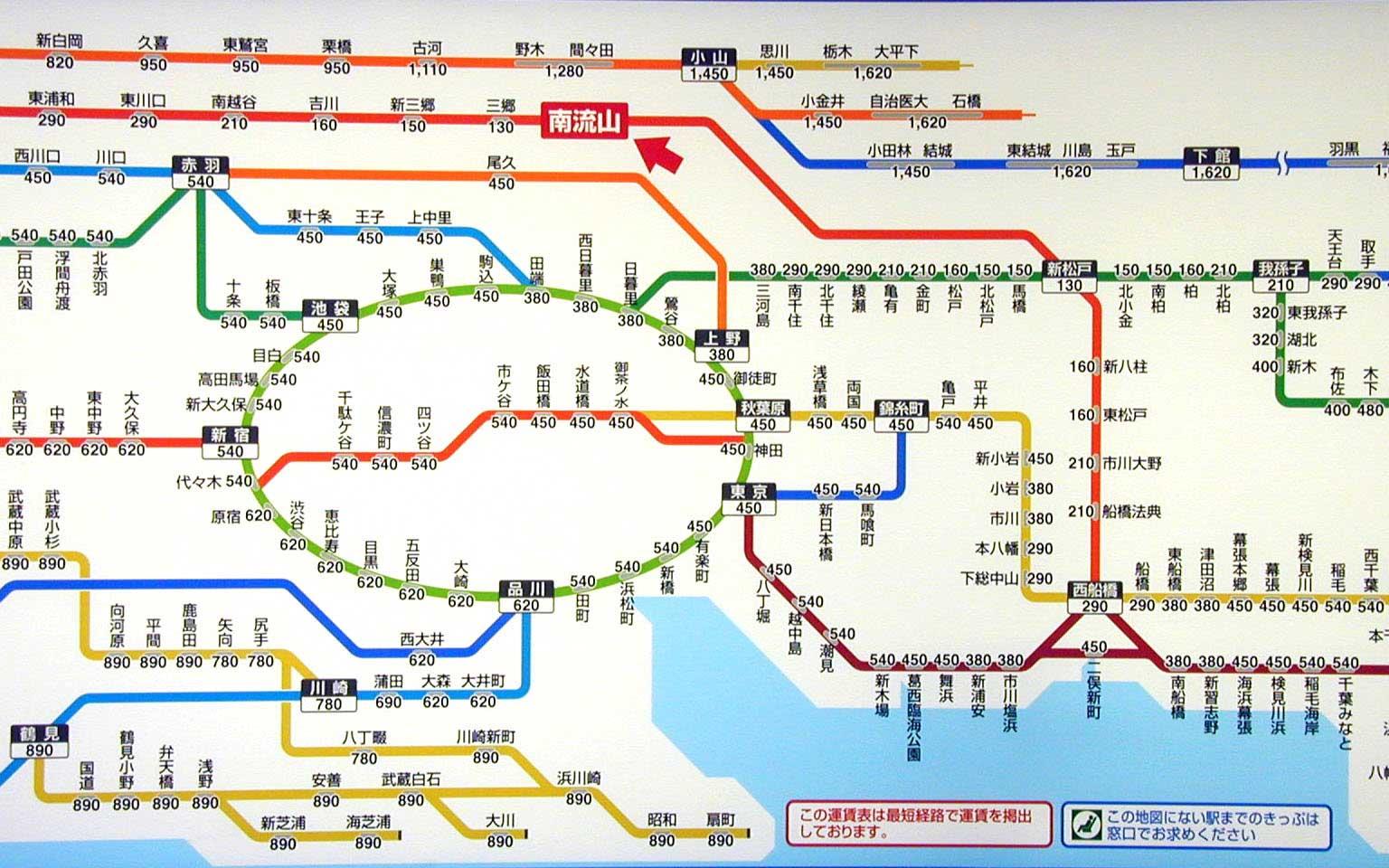 図をクリックすると大きい画像となります JR武蔵野線 駅所要時間